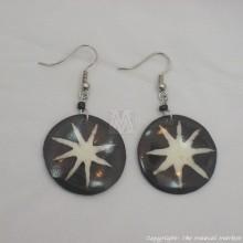 Cow Bone Solar Flare Maasai Earrings 599-60