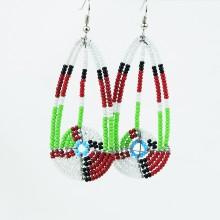 Maasai Bead Long Tear Drop Earrings