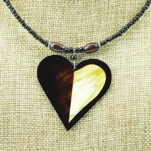 Heart Shape Cow Horn Pendant Necklace