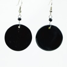 Disk Cow Horn Earrings