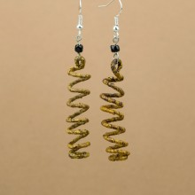 Banana Fiber Spiral Earrings