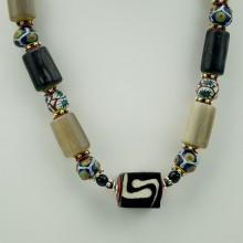 African Mixed Bead Necklace