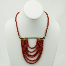 Kitanzi Solid Color Brass Necklace