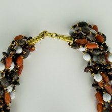 Kenya Mixed Seed Bead Multi Strand Necklace