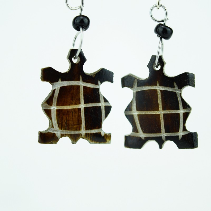 Tortoise Brown Bone earrings