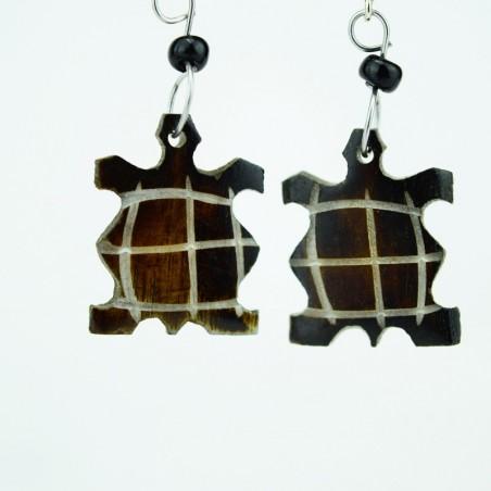 Tortoise Brown Bone earrings