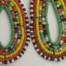 Maasai Multi Color Tear Drop Earrings Green