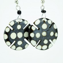Round Notched Polka Dot...