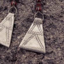 Recycled Aluminium Trade bead Earrings