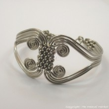 Silver Coil Weave Bracelet Bangle Closed