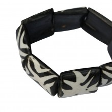 Mud Cloth Print Cross Bracelet