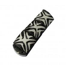 Mud Cloth Print Cross Bracelet