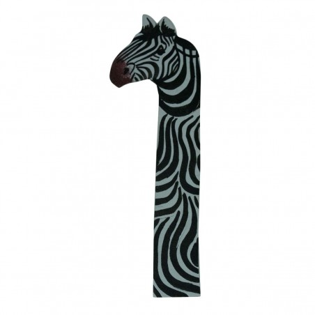 Zebra Leather Bookmark
