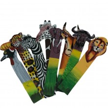 African Buffalo Leather Bookmark