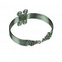 Four Spirals Woven Wire Bracelet