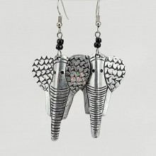 Recycled Aluminum Elephant Earrings 325-93