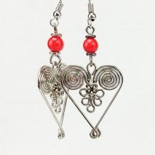 Silver Maasai Bead Spiral Weave Earring