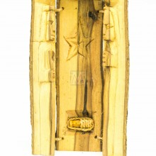 Kenya Wood Log Nativity