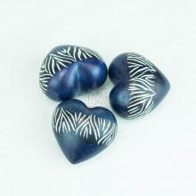 Kisii Soapstone Handcarved Hearts Set