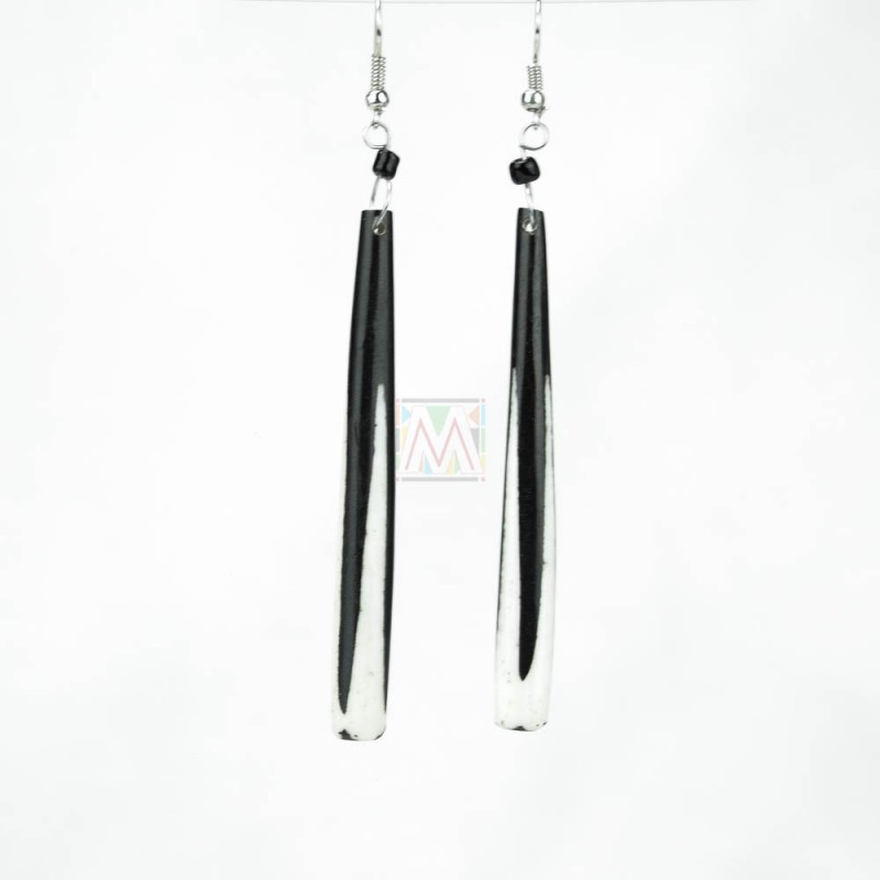 Cow Bone Maasai Dangle Earrings 621-20