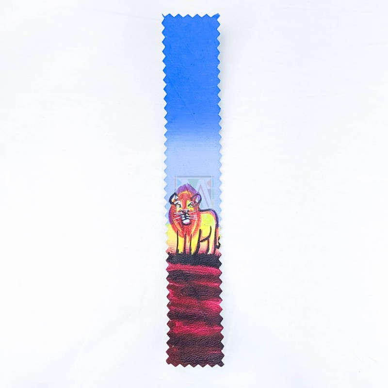 Lion Leather Bookmark