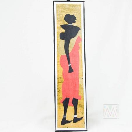 Long Maasai People Banana Fiber Art