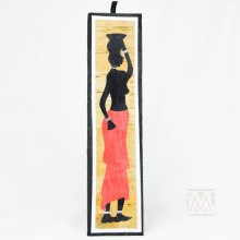 Potrait Maasai Mother and Child Banana Fiber Art