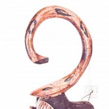 """Guro Kweni Wood Mask 16"""""""