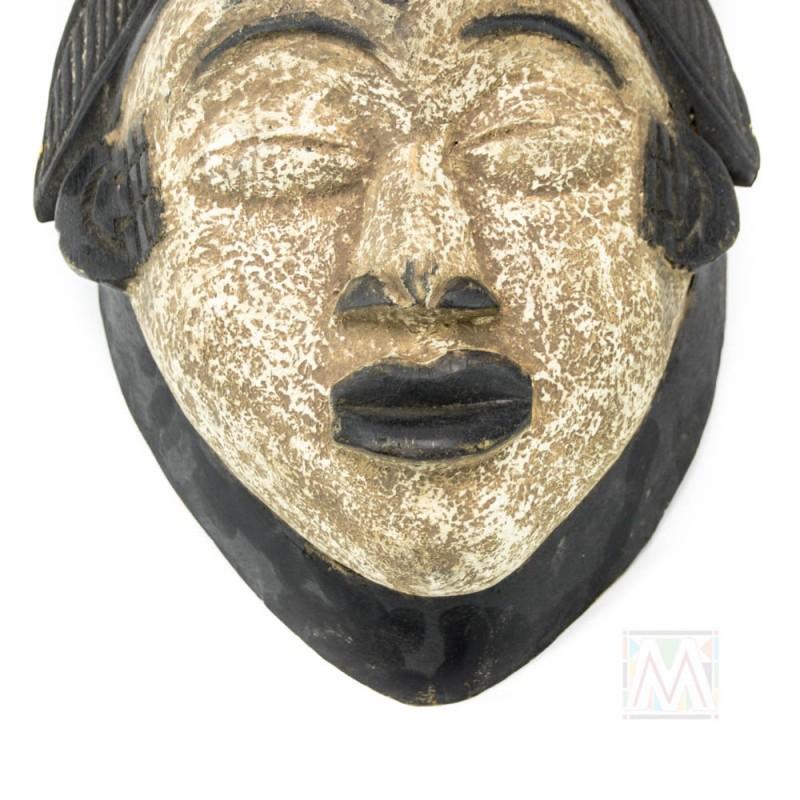 "Wooden African Punu Gabon  Mask 15"""