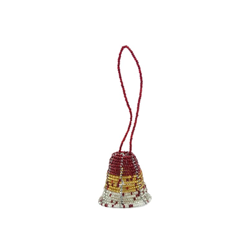 Maasai Christmas Beaded Bell Ornament