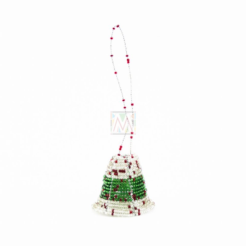 Maasai Beadwork Christmas Bell Ornament