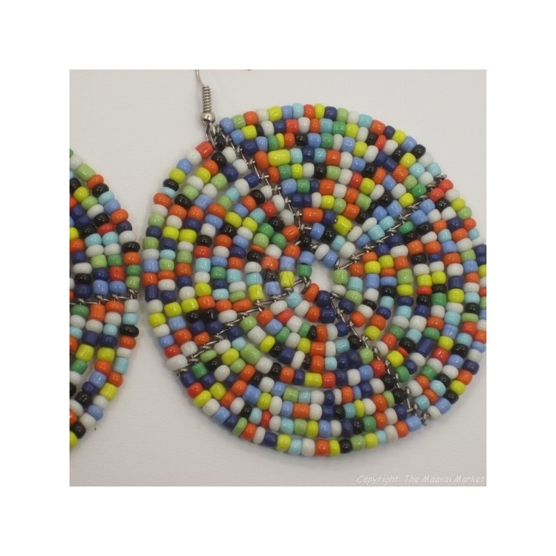 Multi Color Bead Earrings 195-83
