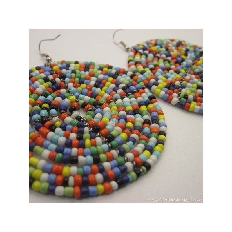 Multi Color Bead Earrings 195-83