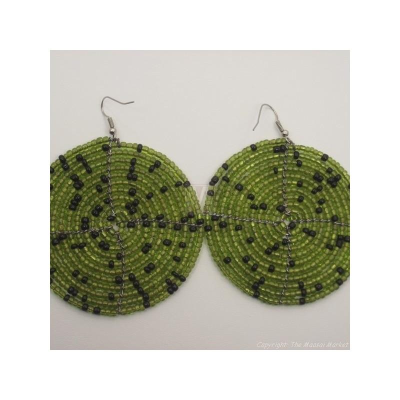 Olive Green Earrings 196-83