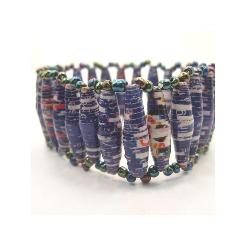 Recycled Paper Maasai Bead Bracelet 669-28