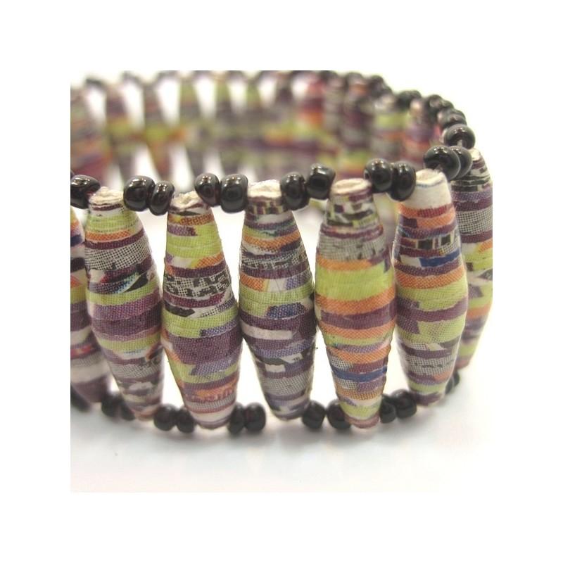 Recycled Paper Maasai Bead Bracelet 671-28