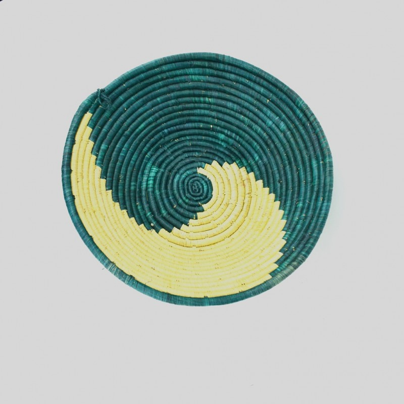 Uganda Handmade Banana Leaf/ Raffia Catch a Wave Basket