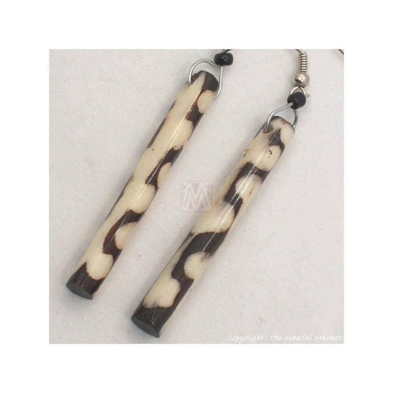 Mud Cloth Print Batik Earrings 561-54