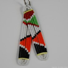 Maasai Glass Beads Multi Color Earrings 231-376