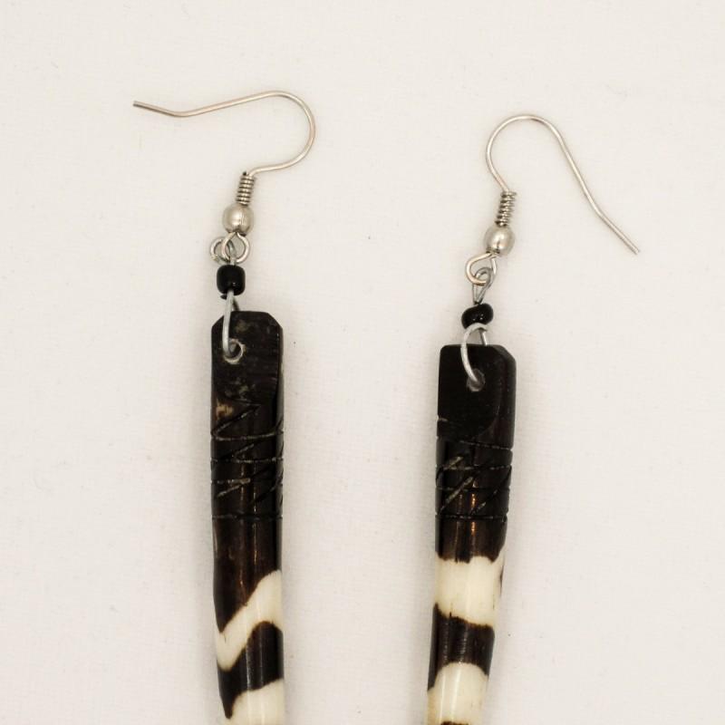 Elephant Tusk Batik Bone Earrings 51-23