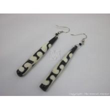 Mud Cloth Print Batik Earrings 528-22