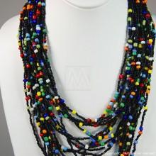Multi Color Strand Maasai Bead Necklace 707-1-91