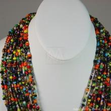 Multi Color Strand Maasai Bead Necklace 707-2-91