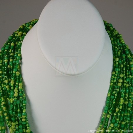 Multi Color Strand Maasai Bead Necklace 707-3-91