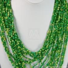 Multi Color Strand Maasai Bead Necklace 707-3-91