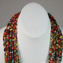 Multi Color Strand Maasai Bead Necklace 707-4-91