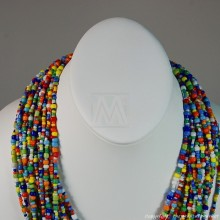 Multi Color Strand Maasai Bead Necklace 474-43