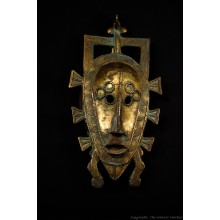 Bronze Senufo Tribal Mask Calao Bird 12""