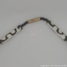 Mud Cloth Trade Beads Bone Arrow Pendant Necklace