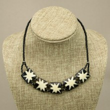 Star Burst Cow bone Choker Necklace
